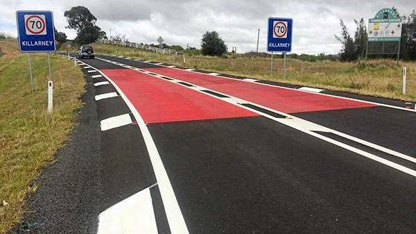 SLOW DOWN: This is a typical TET installation coming to a township on the Bruce Highway near you.