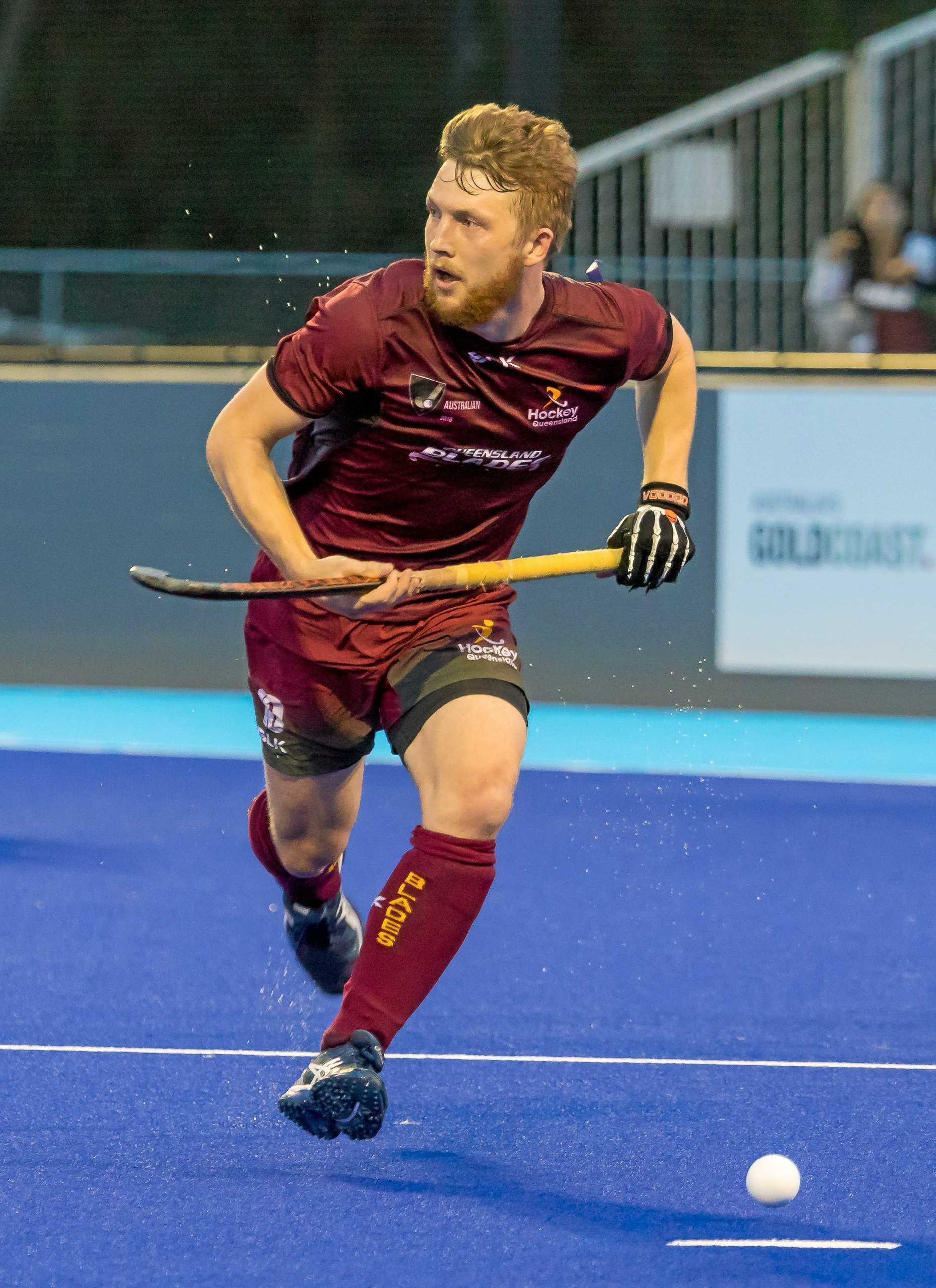 Robert Bell has won several Australian Hockey League titles with the Queensland Blades.