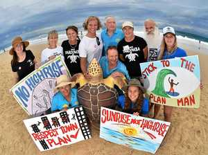 Surfers unite to save Yaroomba's 'endangered wave'