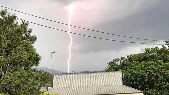 Tom Daunt captured this lightning strike from a storm coming over Gympie from the south west (picture from January 2018).