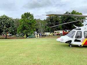 26-year-old man treated by paramedics after car crash