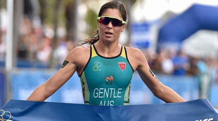 Ashleigh Gentle won her maiden Mooloolaba ITU World Cup on Saturday, March 16