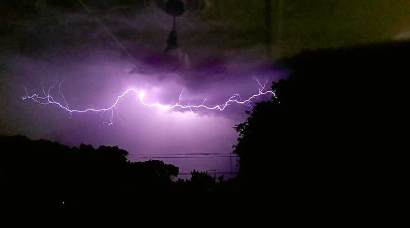 The Bureau of Meteorology has issued a severe thunderstorm warning