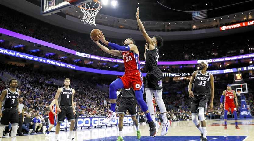 The Philadelphia 76ers' Ben Simmons in action against the Sacramento Kings. Picture: Matt Slocum/AP