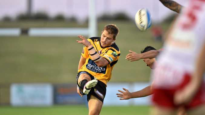 HALFBACK: Falcons' Todd Murphy, pictured in round one, had another strong outing.