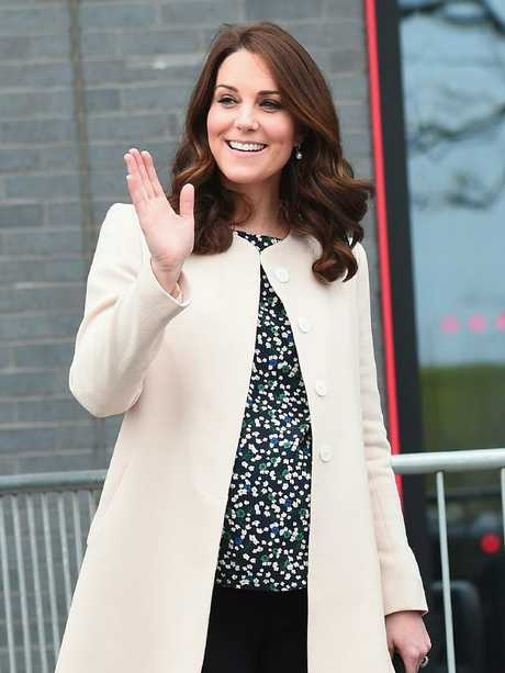 Kate's last engagement before giving birth to Louis. Picture: Eamonn M. McCormack/Getty Images