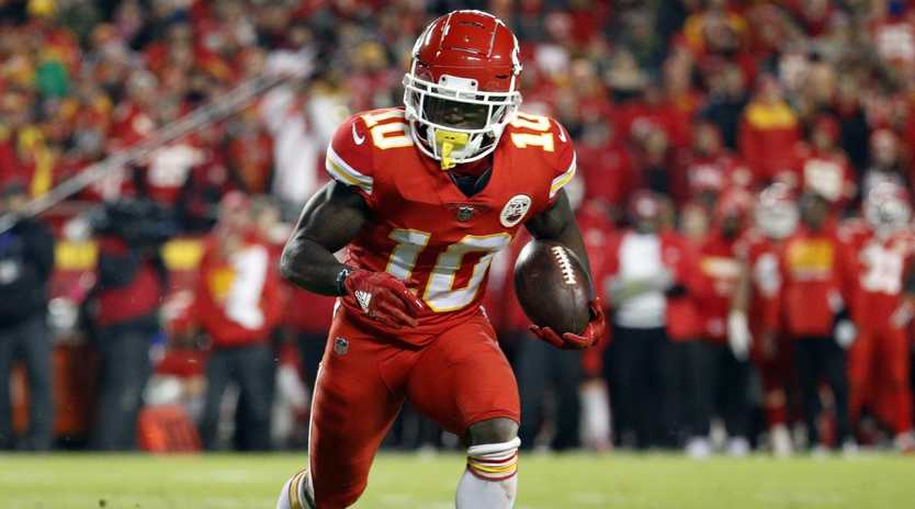 Kansas City Chiefs wide receiver Tyreek Hill may be in strife.