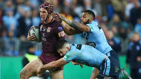 Kalyn Ponga was difficult to stop when he fially made his Maroons debut. Picture: Mark Nolan/Getty Images
