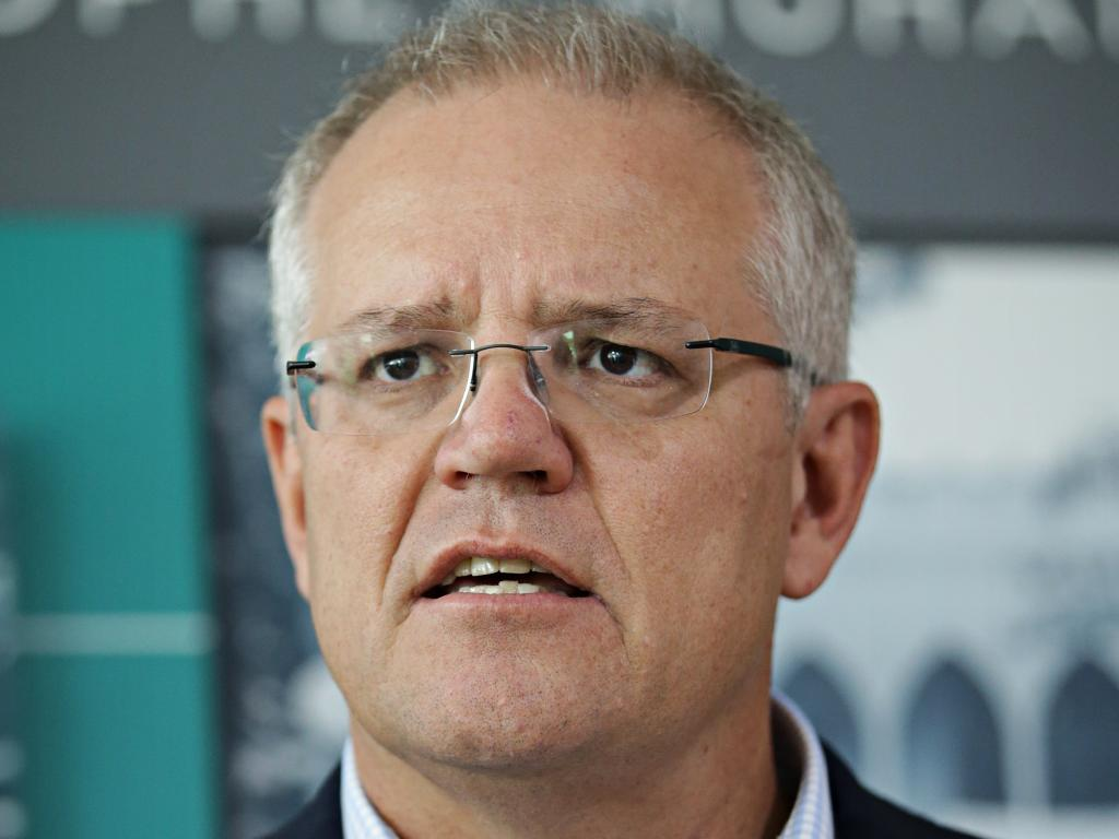 Australian PM Scott Morrison has a history of controversial comments about Muslim immigration. Picture: Adam Yip