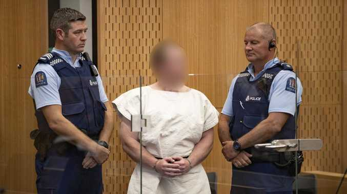 The man charged in relation to the Christchurch mosque massacre. Picture: Mark Mitchell/AAP