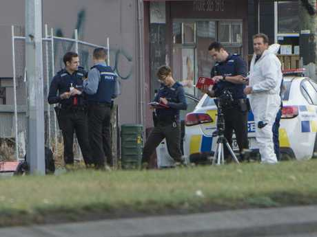 Active investigation. Police at the Linwood Islamic Centre in Christchurch. Picture: AAP
