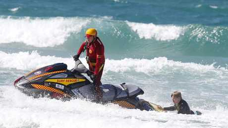 Official launch of the surf lifesaving season on the Gold Coast at Kurrawa beach. Picture: JERAD WILLIAMS