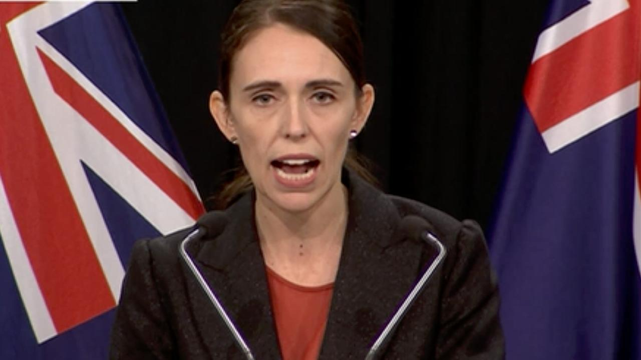 New Zealand Prime Minister Jacinda Ardern said gun laws must change in New Zealand. Picture: TVNZ via AP