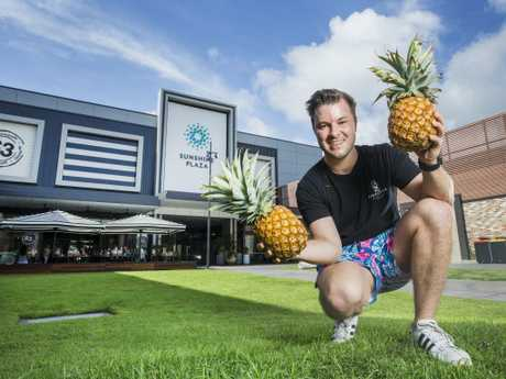 Pineapple Express Owner Tom Sweep is excited to launch their latest store at the new look Sunshine Coast Plaza at Maroochydore. Picture: Lachie Millard