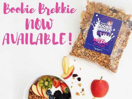 Boobie Brekkie has been designed for breastfeeding mums.