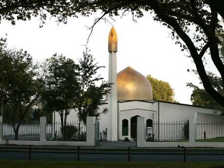 The Masjid Al Noor Mosque on Deans Avenue, the scene of a mass shooting. Picture: AAP