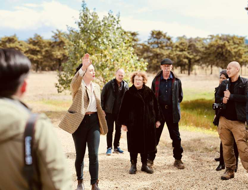 Ipswich couple Anne and David Kernke, together with daughters Myfanwy and Ceridwen and beloved westie Gillie (Scottish for gamekeeper) are restoring the Shene Estate in Tasmania.
