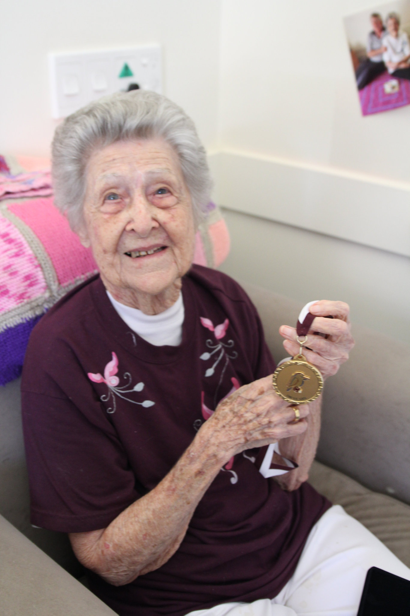 LOVING LIFE: Former Toowoomba resident Jean Le Brocq celebrated her 102nd birthday last week on the Sunshine Coast.