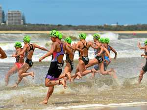 Mooloolaba Triathlon gets under way