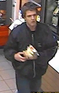 Wanted for questioning over stealing in September.