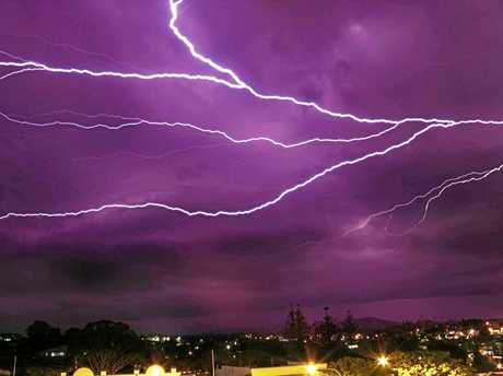 STRIKE OUT: Friday night produced the goods with an amazing lightning show across the Gympie region.