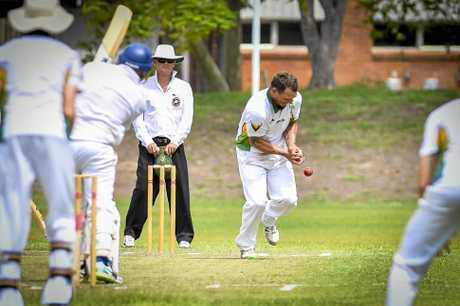BITS Cricket Club's Jason Batchelor drops Glen Stanton-Cook in their second grand final match.