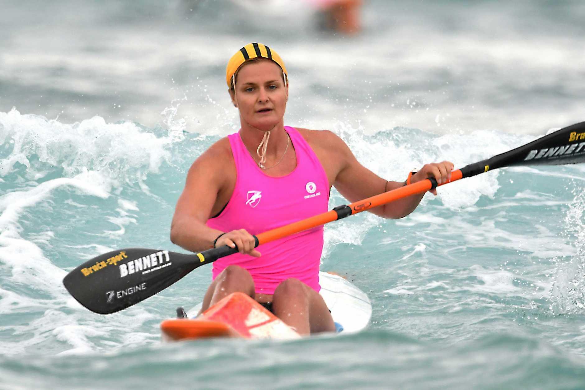 TOP EFFORT: Alexandra Headland won taplin gold during the Queensland Surf Life Saving Championships.