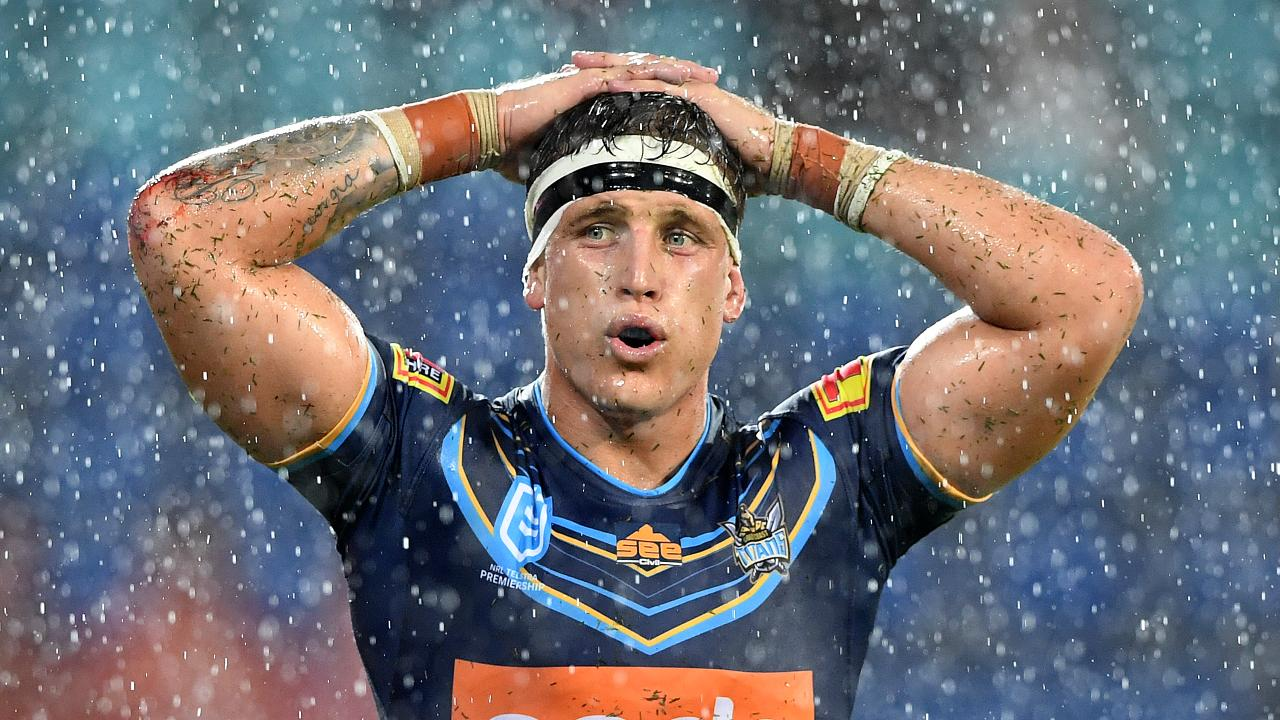 Jarrod Wallace during the Titans' loss to the Raiders. Picture: AAP
