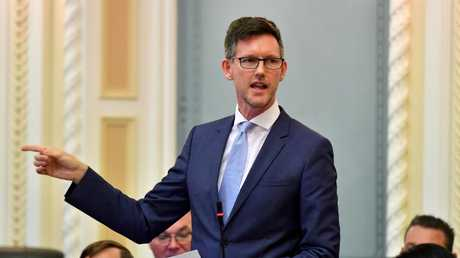 """Transport and Main Roads Minister Mark Bailey says LNP claims the State Government was holding up infrastructure projects were """"desperate""""."""