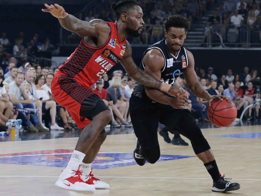 Casper Ware of Melbourne United drives to the basket. Picture: Getty Images
