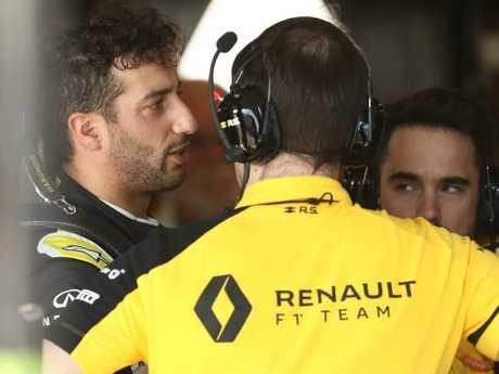 Ricciardo ended up in the garage far earlier than he'd hoped.