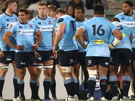 Waratahs players during their loss to the Brumbies at the weekend.