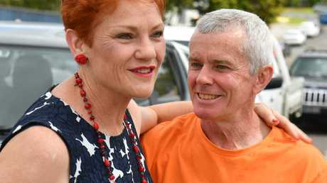 One Nation leader Senator Pauline Hanson and former senator Malcolm Roberts. Picture: AAP/Mick Tsikas