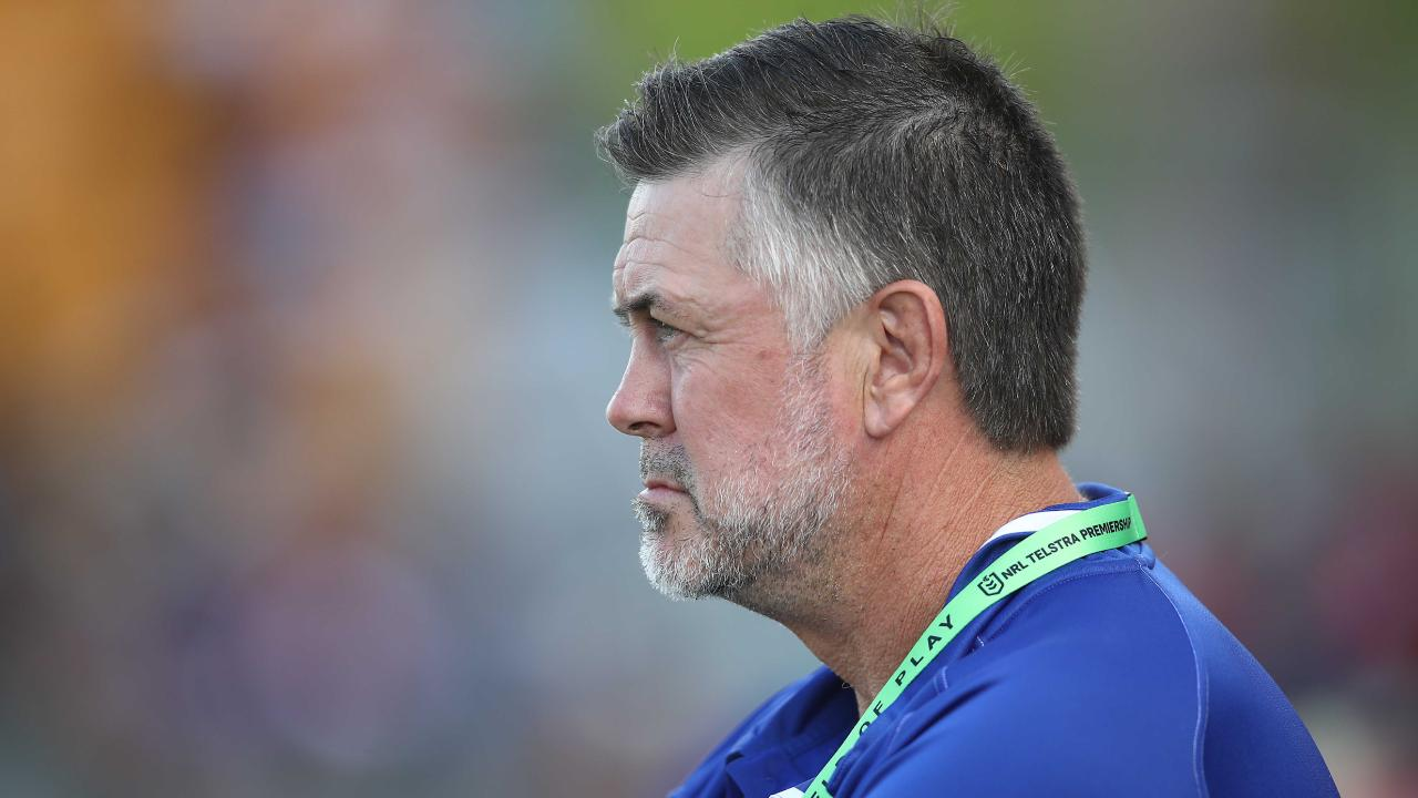 Dean Pay looks on during his side's loss to the Warriors at Mt Smart Stadium. Picture: Getty Images