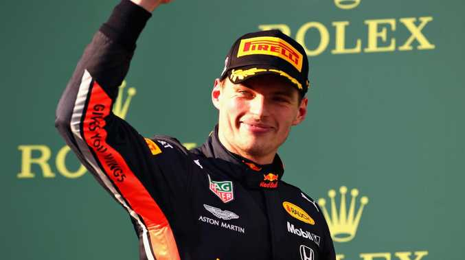 Max Verstappen was all smiles in Melbourne.