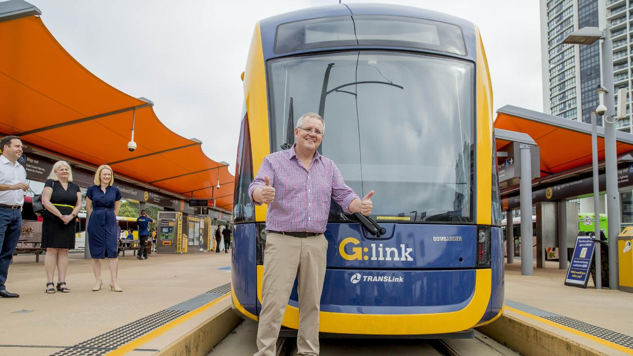 Prime Minister Scott Morrison announces federal funding for the next stage of the Gold Coast light rail.