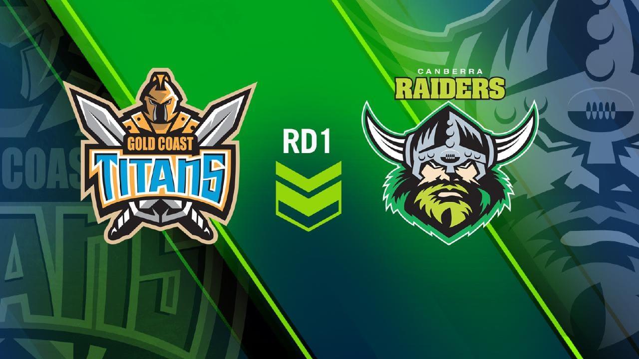 NRL Round 1 Titans v Raiders.