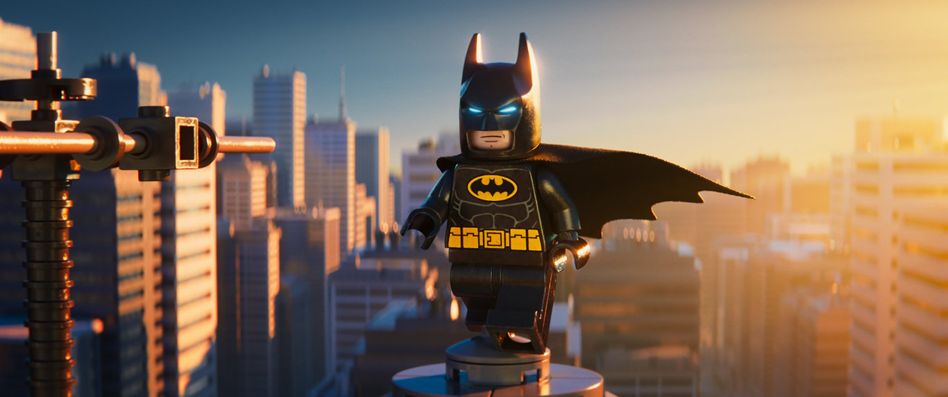 Batman (Will Arnett) in a scene from The Lego Movie 2.