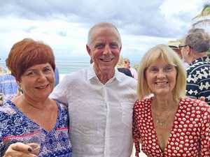 Pip Covell with Brian and Melinda Watson at the 40th