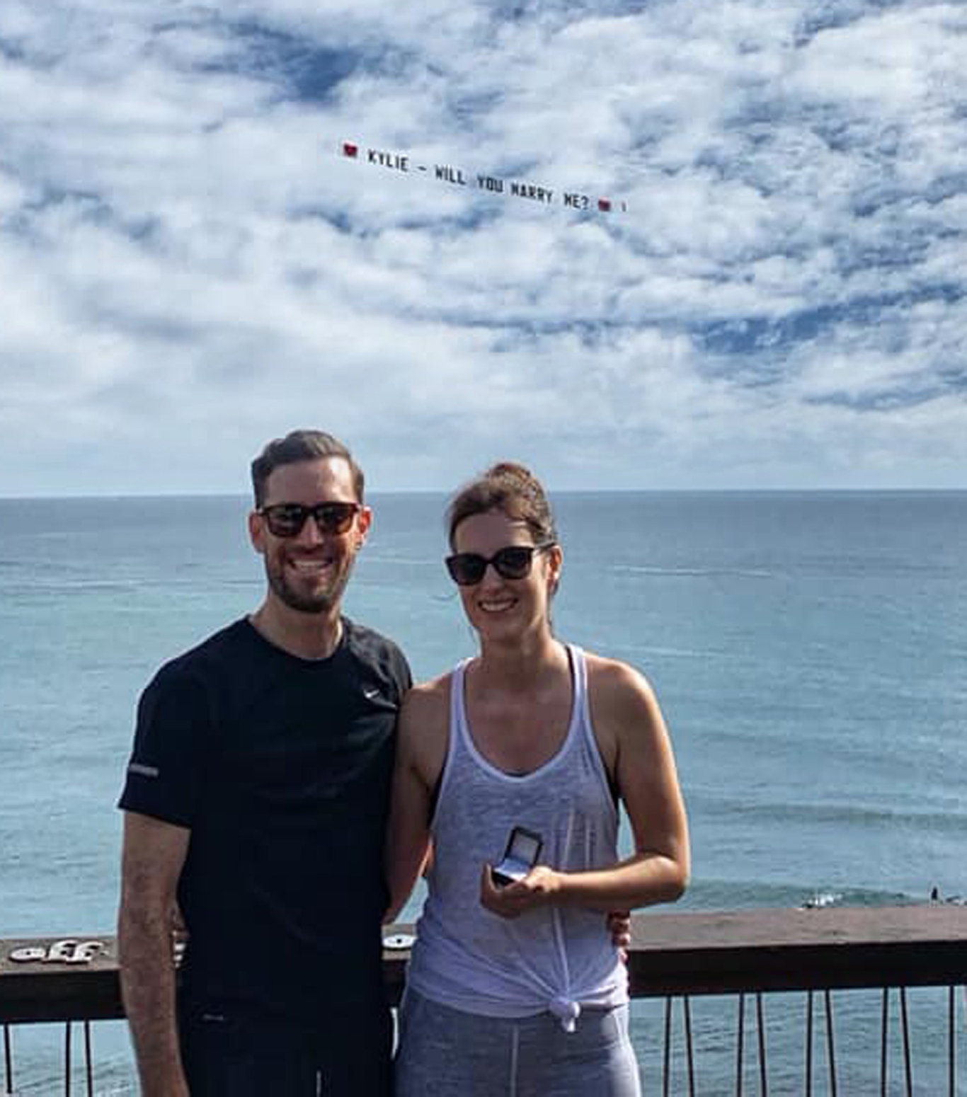 Kylie McMahon got the surprise of a lifetime on Sunday morning when her boyfriend, Jared, popped the question at Moffat Beach.
