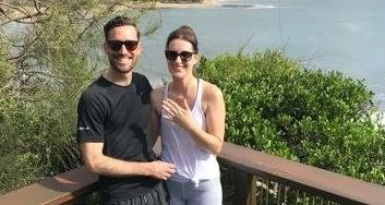 SHE SAID YES: Kylie McMahon got the surprise of a lifetime on Sunday morning when her boyfriend, Jared, popped the question at Moffat Beach.