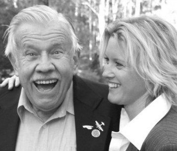 Ted Pretty shares a laugh with granddaughter Bek.
