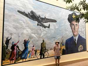 Portrait of decorated pilot marks proud moment