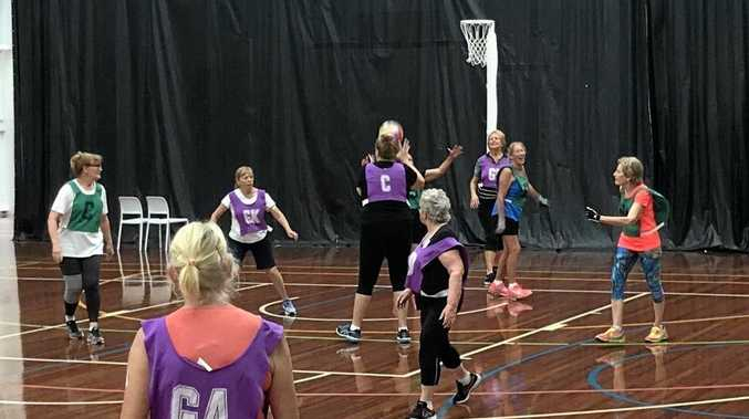 It's netball, but played in slow motion