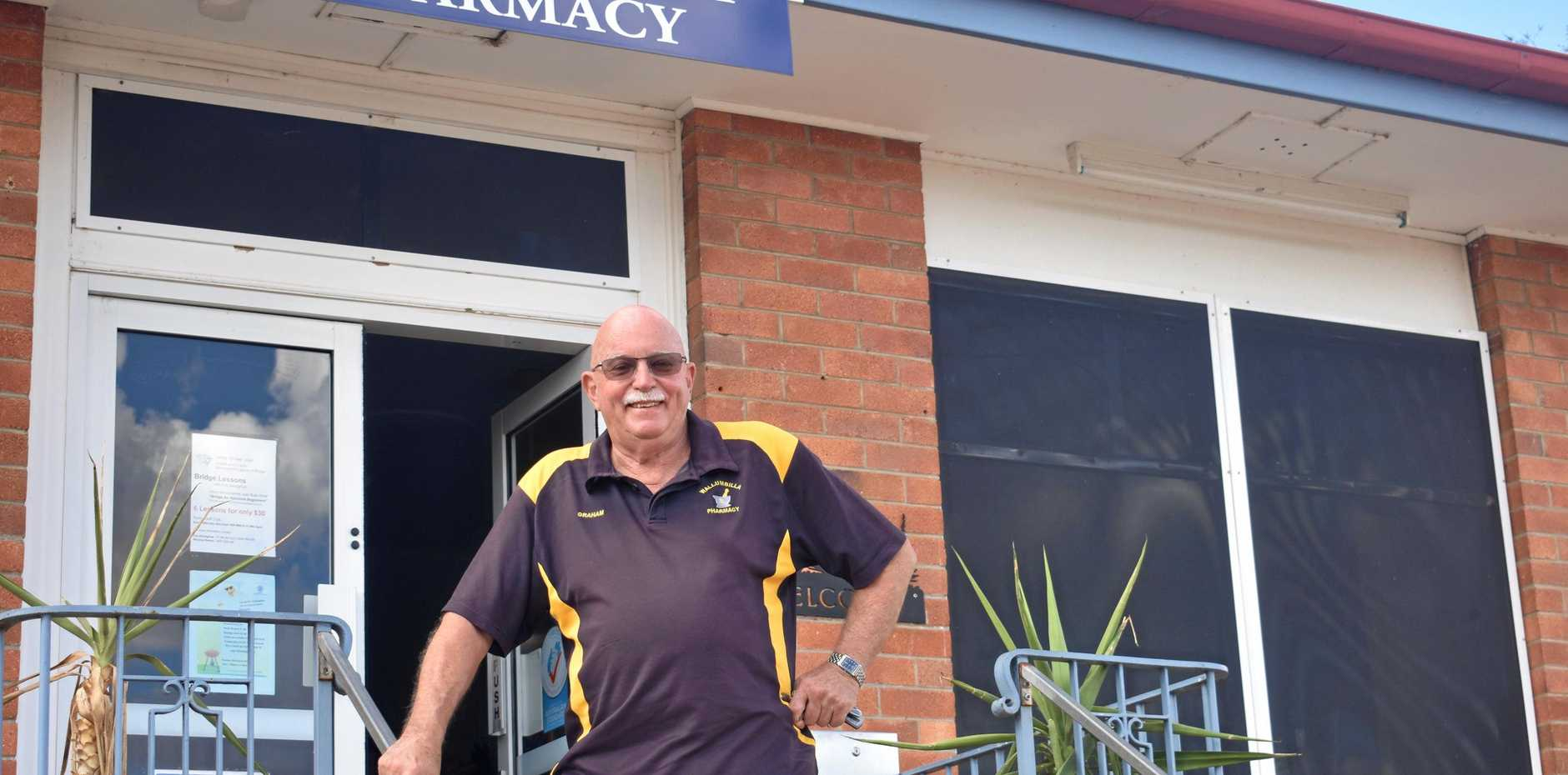 WAVING GOODBYE: Graham Beissel has sold the Wallumbilla pharmacy after three years in the community.