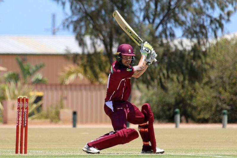Mitchell English, pictured here batting for Queensland Country against Victoria earlier this year, guided Norths to a win against Souths at the weekend.