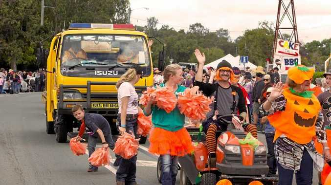 PUMPKIN FANS: Crowds gathered to see the street parade at last year's Goomeri Pumpkin Festival.