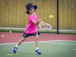 GALLERY: Young guns serve up in tennis clinic
