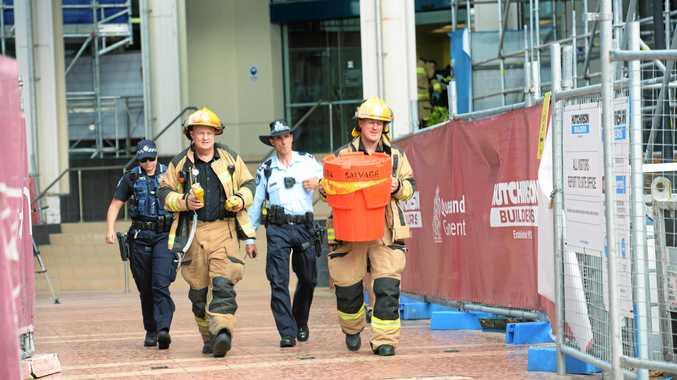 Emergency  services at Rockhampton Court.