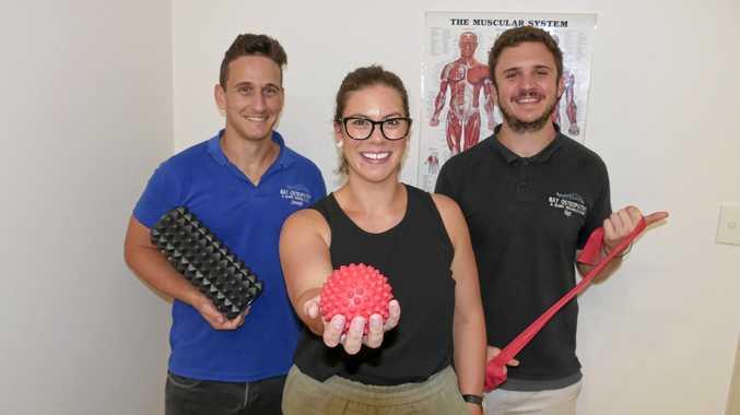 EXPANDNG: Bay Osteopathy and Injury Rehabilitation's Nat Sloane, new employee Jess Garner and Joseph Henry.